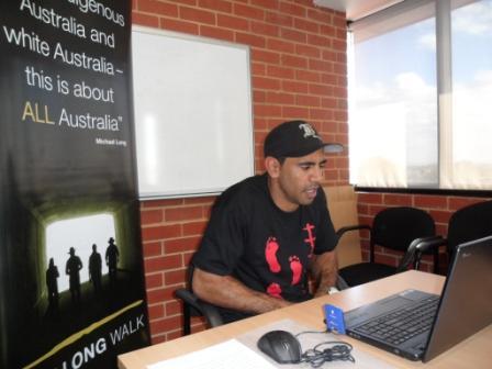 Students Skype Nathan Lovett Murray
